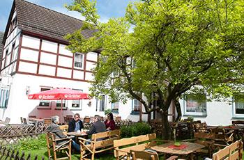 Unser Biergarten - das ist Urlaub in Trendelburg